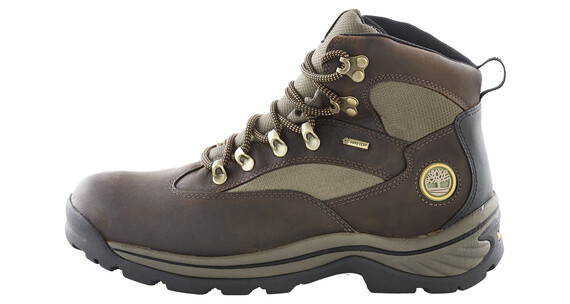 Timberland Chocorua Trail Boots Men Mid GTX Brown with Green
